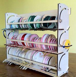 Ribbon Storage Rack Organizer Holder 80 Spools Offray Ebay