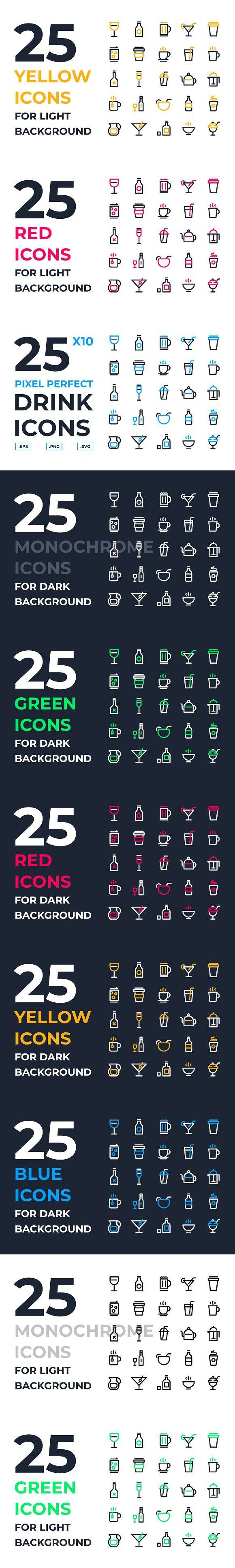 Drink Icons Drink icon, Icon, Drinks