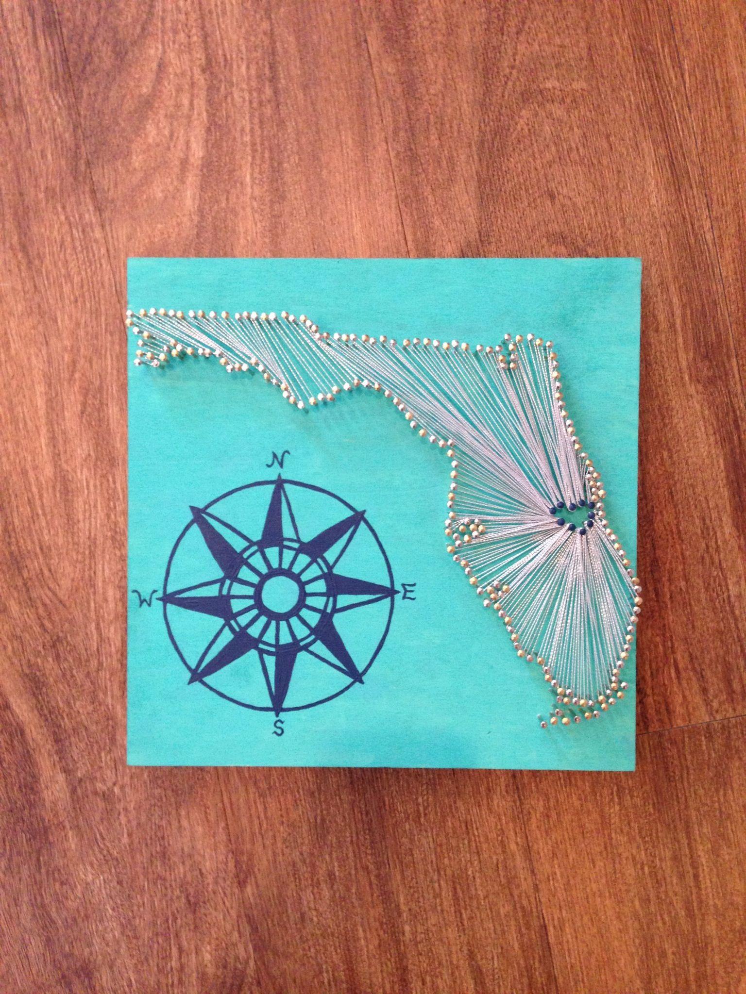 String Art & Compass Rose #DIY #Florida | Art & Projects | Pinterest ...