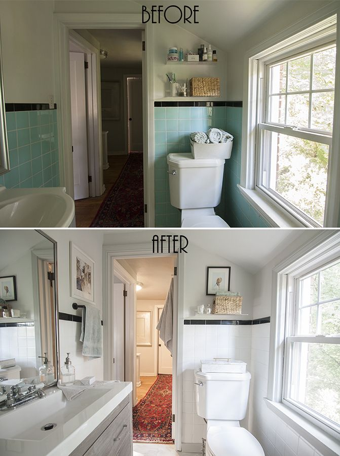 Painted Bathroom Wall Tile - Before & After | Bathroom ...
