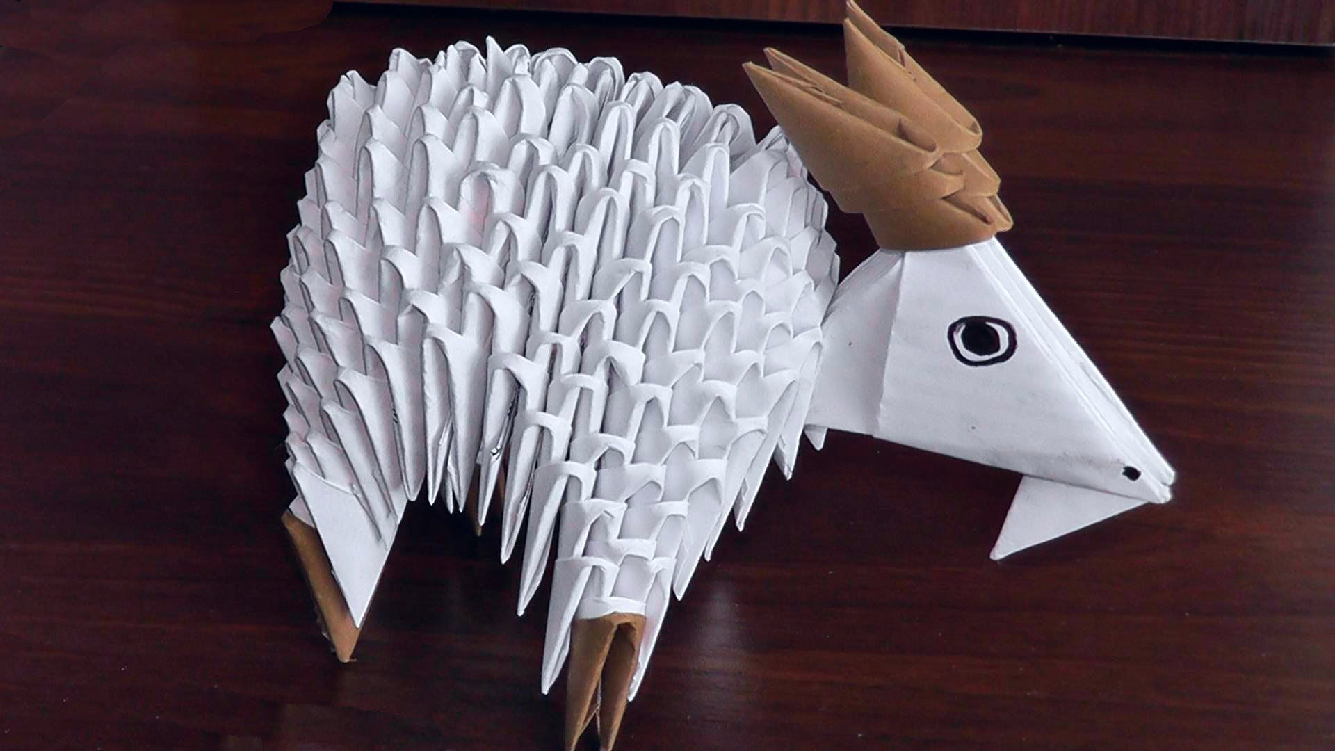 Photo of How to make a paper goat (nanny-goat). 3D origami assembly diagram (tutorial, instructions)
