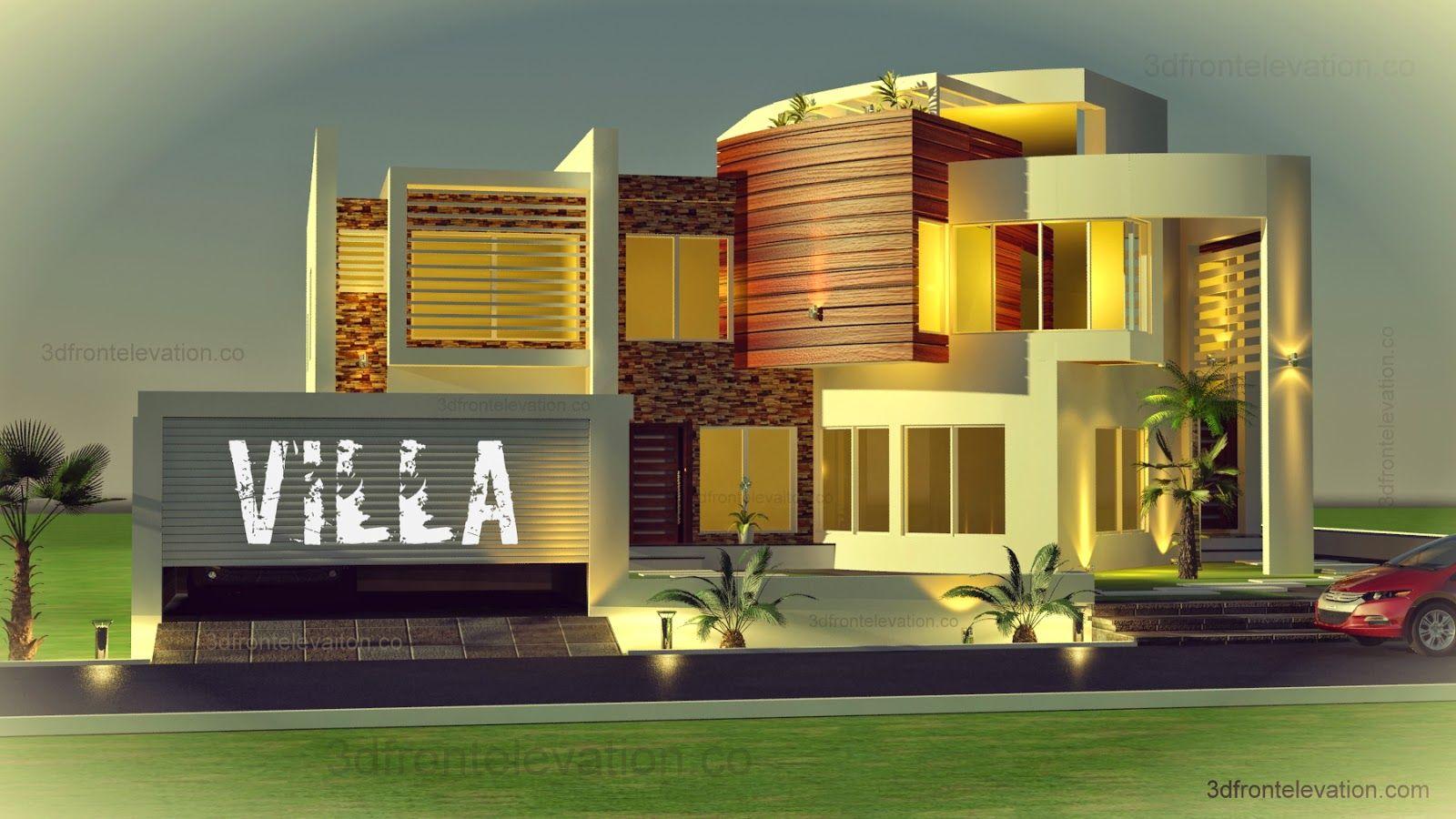 Front Elevation Villas Dubai : D front elevation oman modern contemporary villa