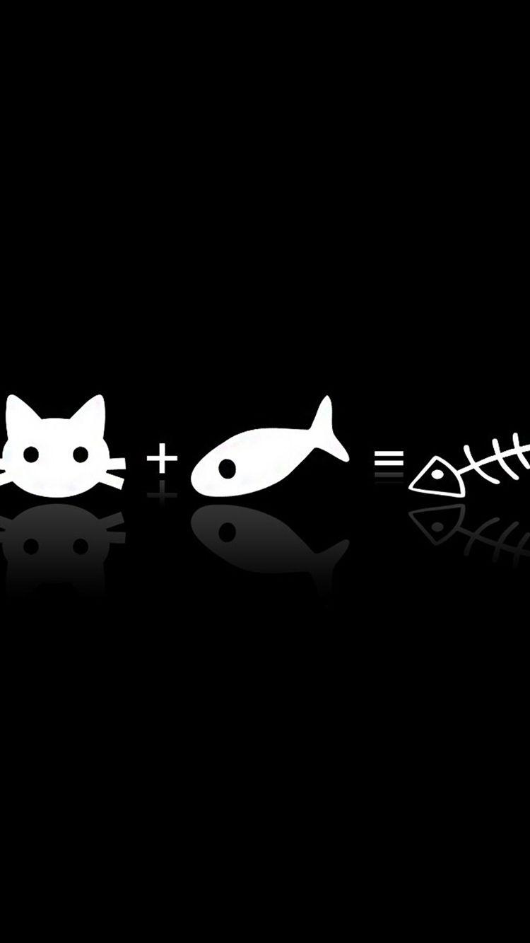 Tap And Get The Free App Minimalistic Unicolor Fun Cat Fish