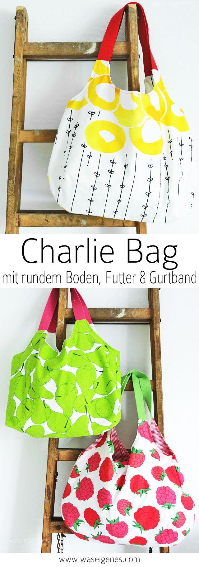 charlie bag mit gurtband und geringerem stoffverbrauch. Black Bedroom Furniture Sets. Home Design Ideas
