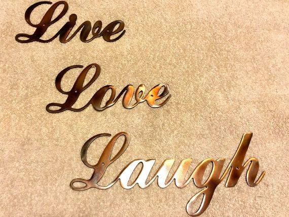 Metal Wall Art Plasma Cut Live Love Laugh Silhouette Art Home Decor ...