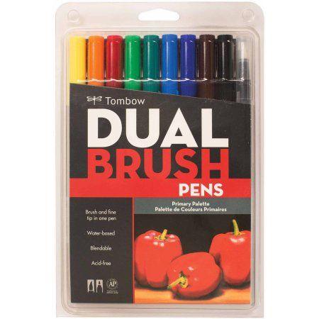 TFor Devin 💁🏻: Tombow Dual Brush Pen Art Markers, 10-Pack,