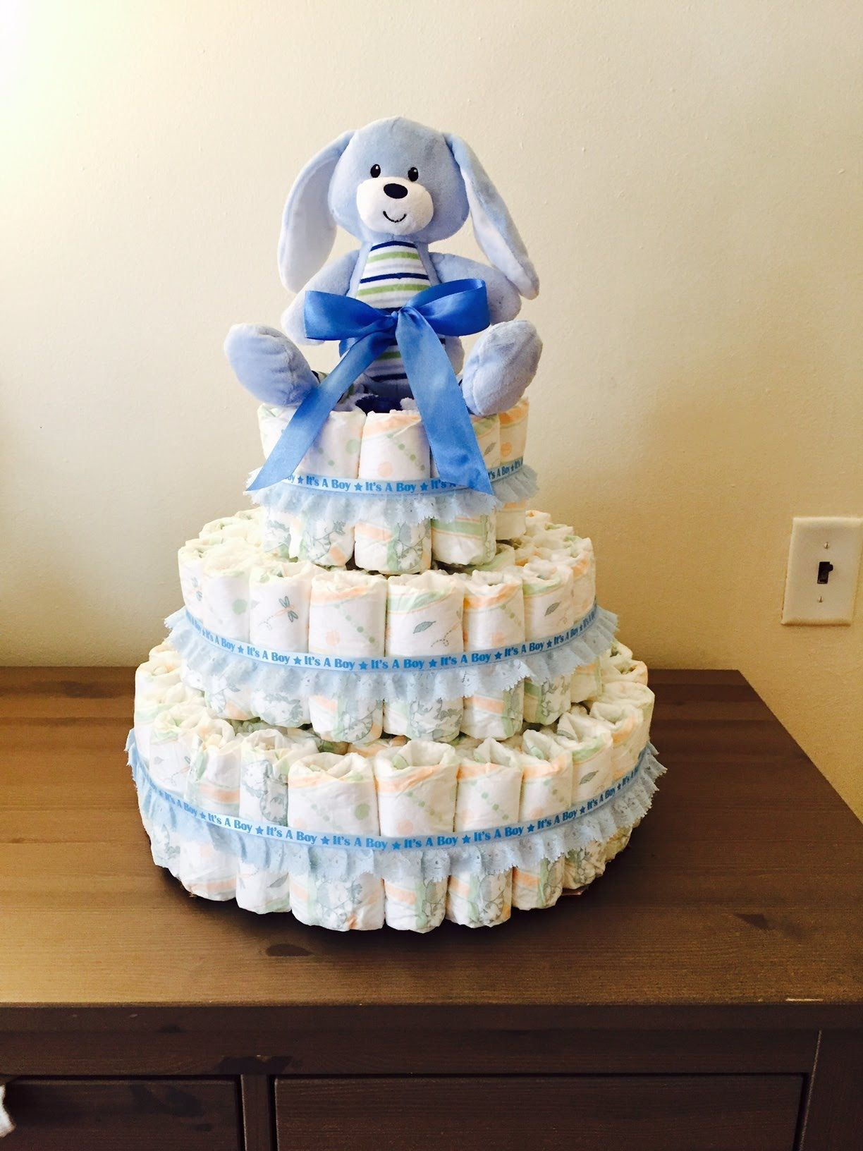 Diy diaper cake youtube baby diaper cake baby shower