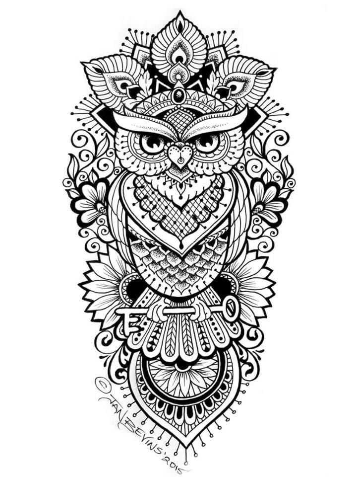Pin By Agus Tyas On D Buhos 01 Geometric Owl Tattoo Owl Tattoo Design Owl Tattoo