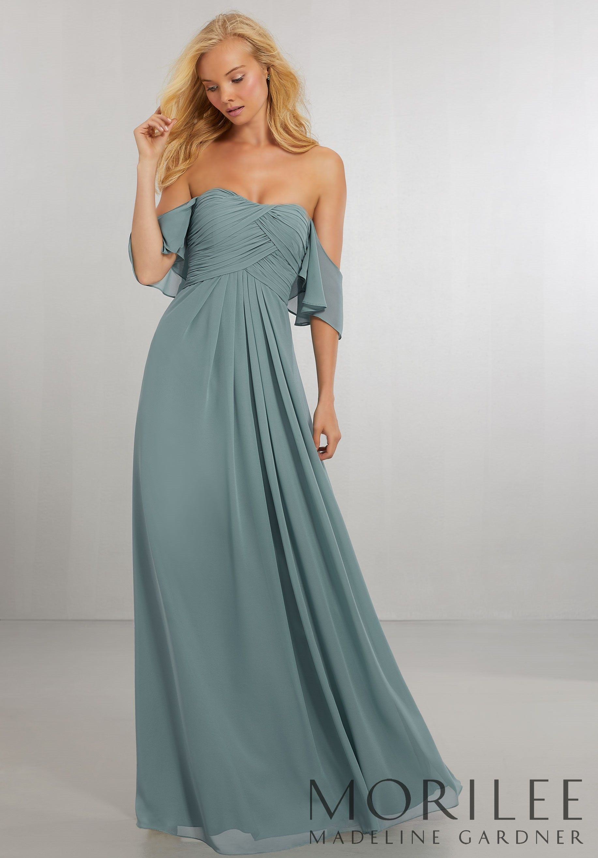 Morilee madeline gardner boho chic chiffon bridesmaids dress with