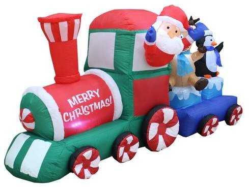 Santa on Train Christmas Inflatable in 2018 Products Pinterest