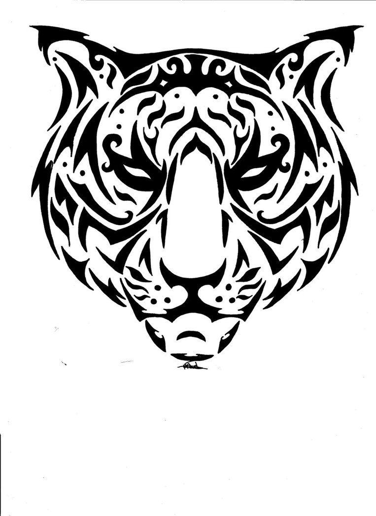 Free Rq Catty Tiger Tribal By Vlindertje235 On Deviantart Animal Tattoos Tribal Animal Tattoos Tribal Tattoos