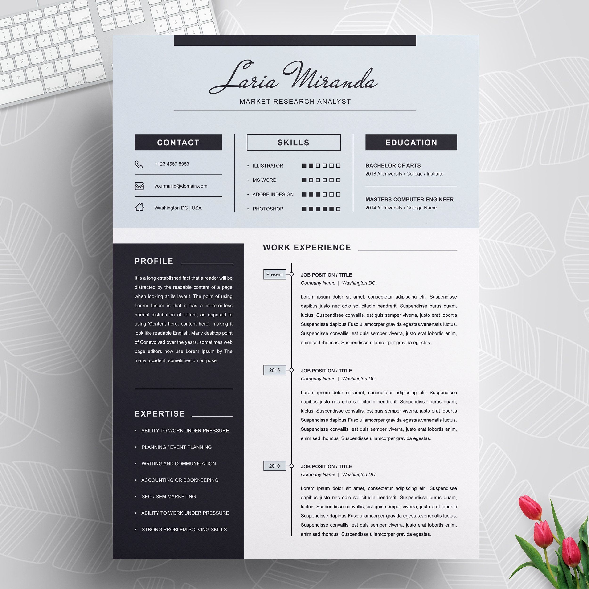 Resume & Cover Letter Template. It is essential that in ...