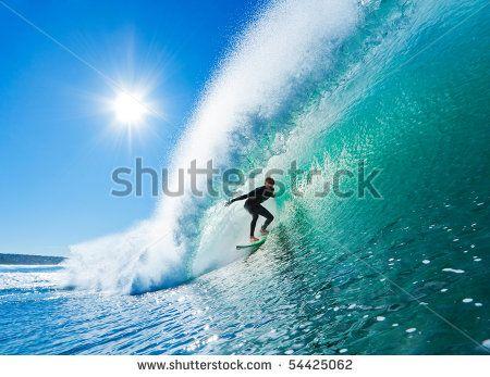 Surffoto op muur