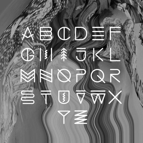 Native American Font Style Native america.