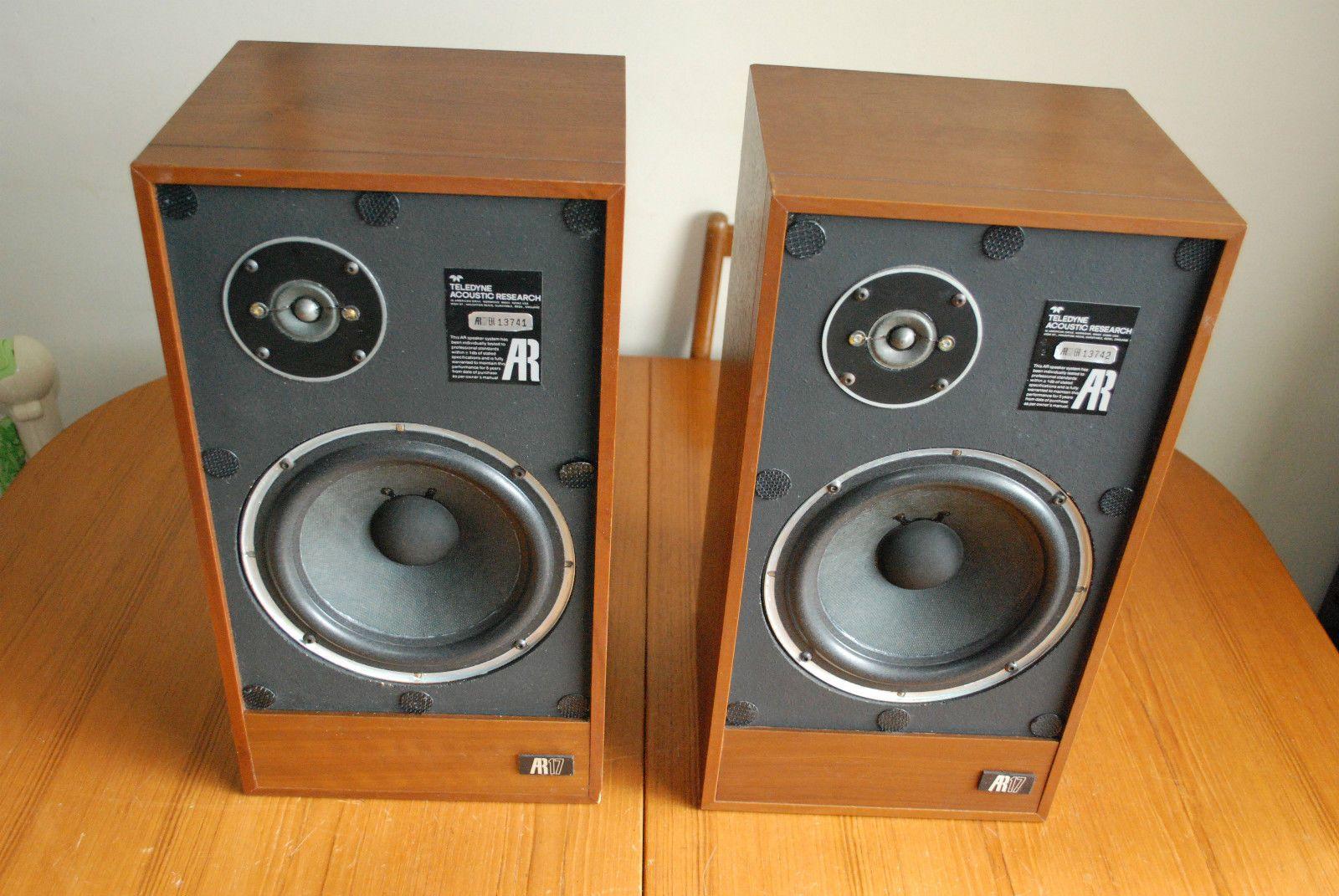 Vintage 1978 Acoustic Research AR17 Hi Fi Loudspeakers