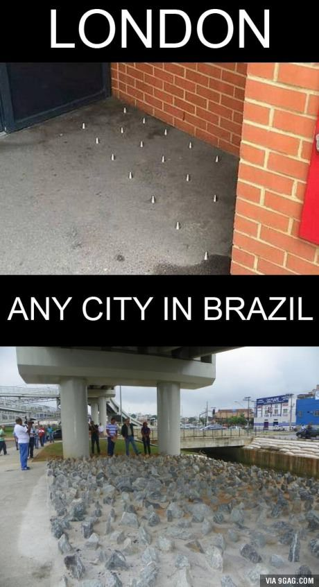 So London has spikes for the homeless? Let's talk about the FIFA World Cup host...