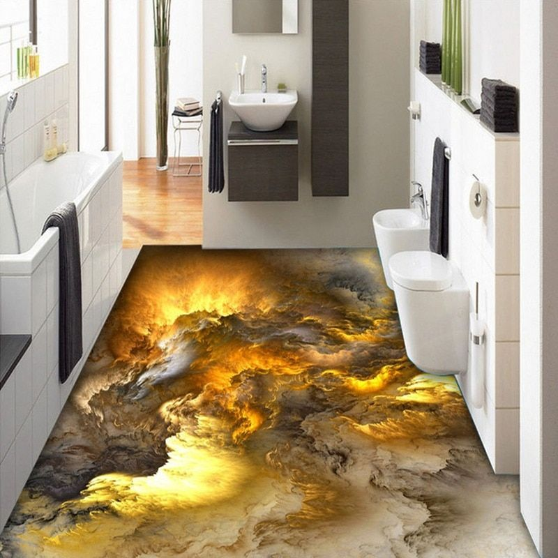 3D Bodenbelag Tapete Moderne Persönlichkeit Abstrakte wolken ...
