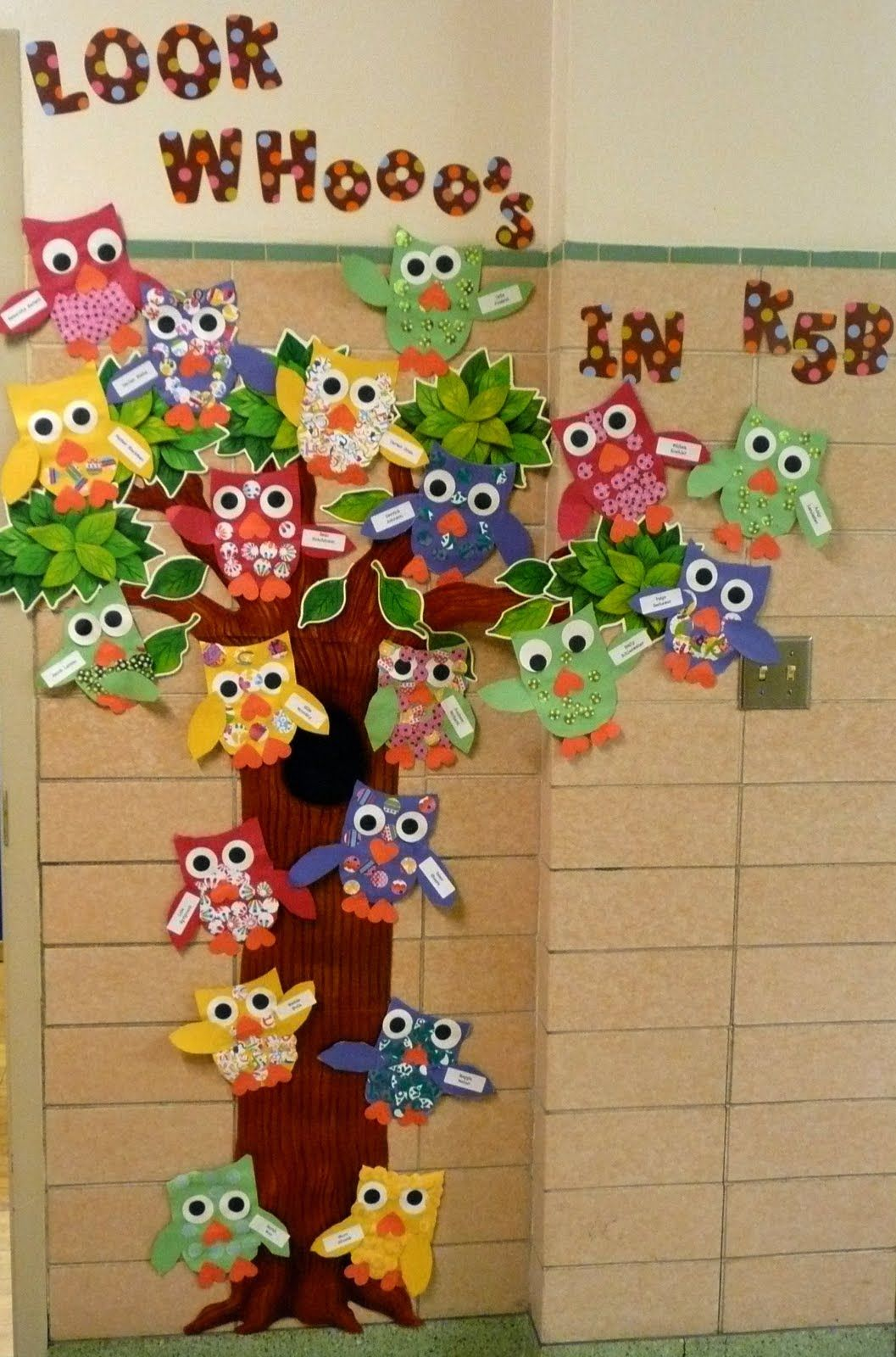Good Classroom Decorating Ideas | Added My Owls To The Outside Wall. My Students  From Last
