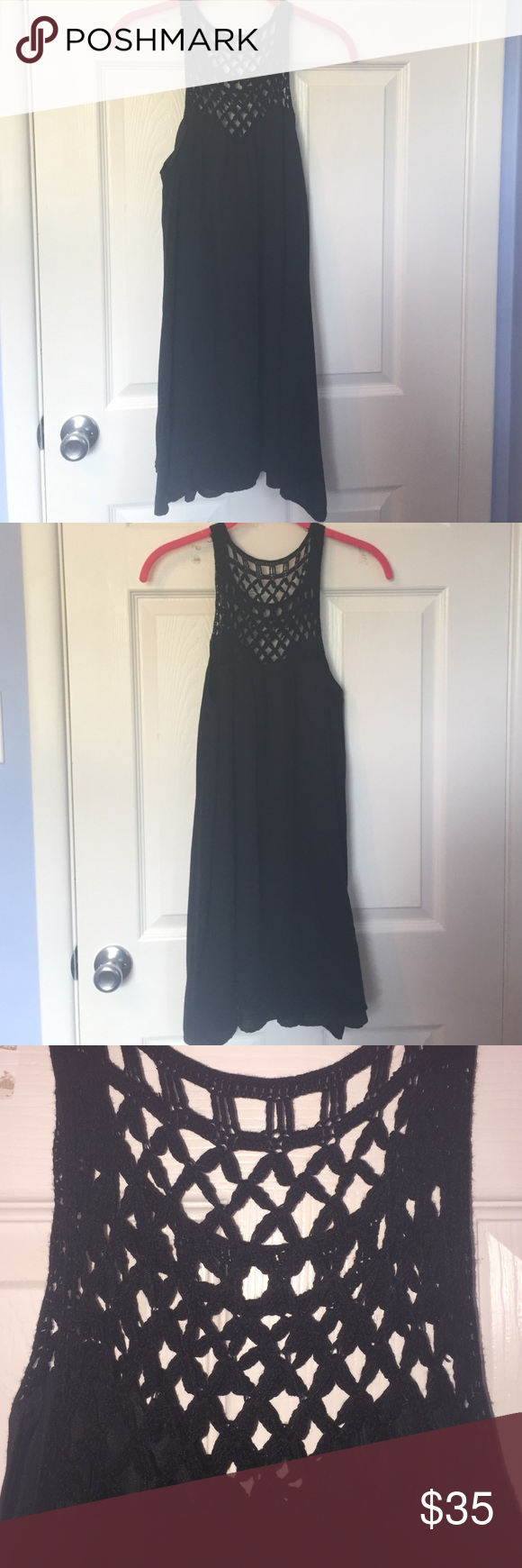 Black dress Loose fitting black dress only worn once BB Dakota Dresses