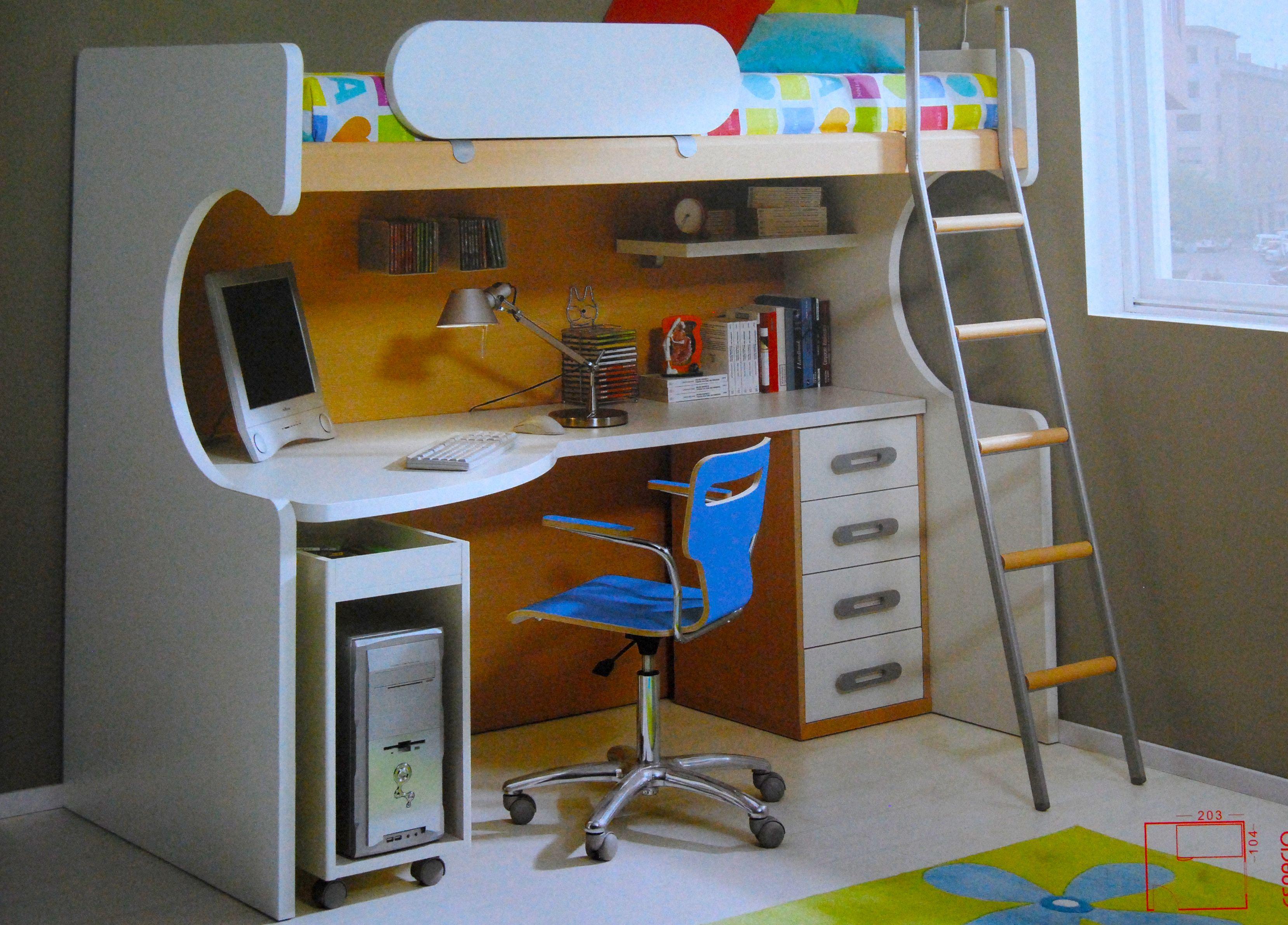 Habitacion infantil peque a espacios pinterest for Muebles para piezas pequenas
