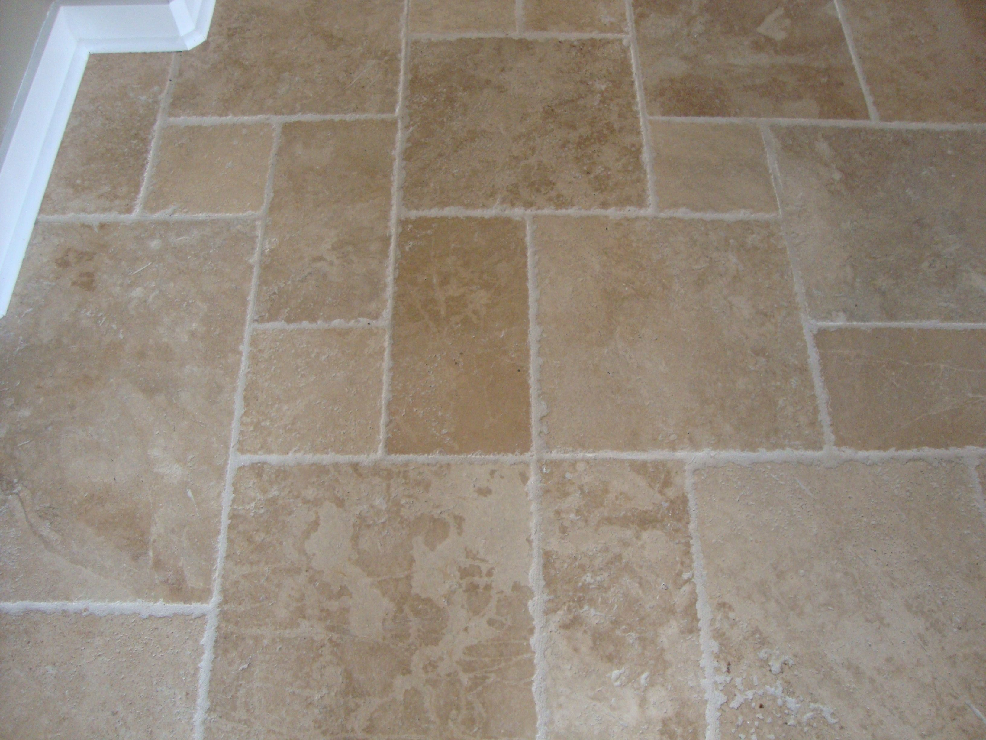Walnut brushed chiseled edge versailles pattern travertine tile tile flooring dailygadgetfo Gallery