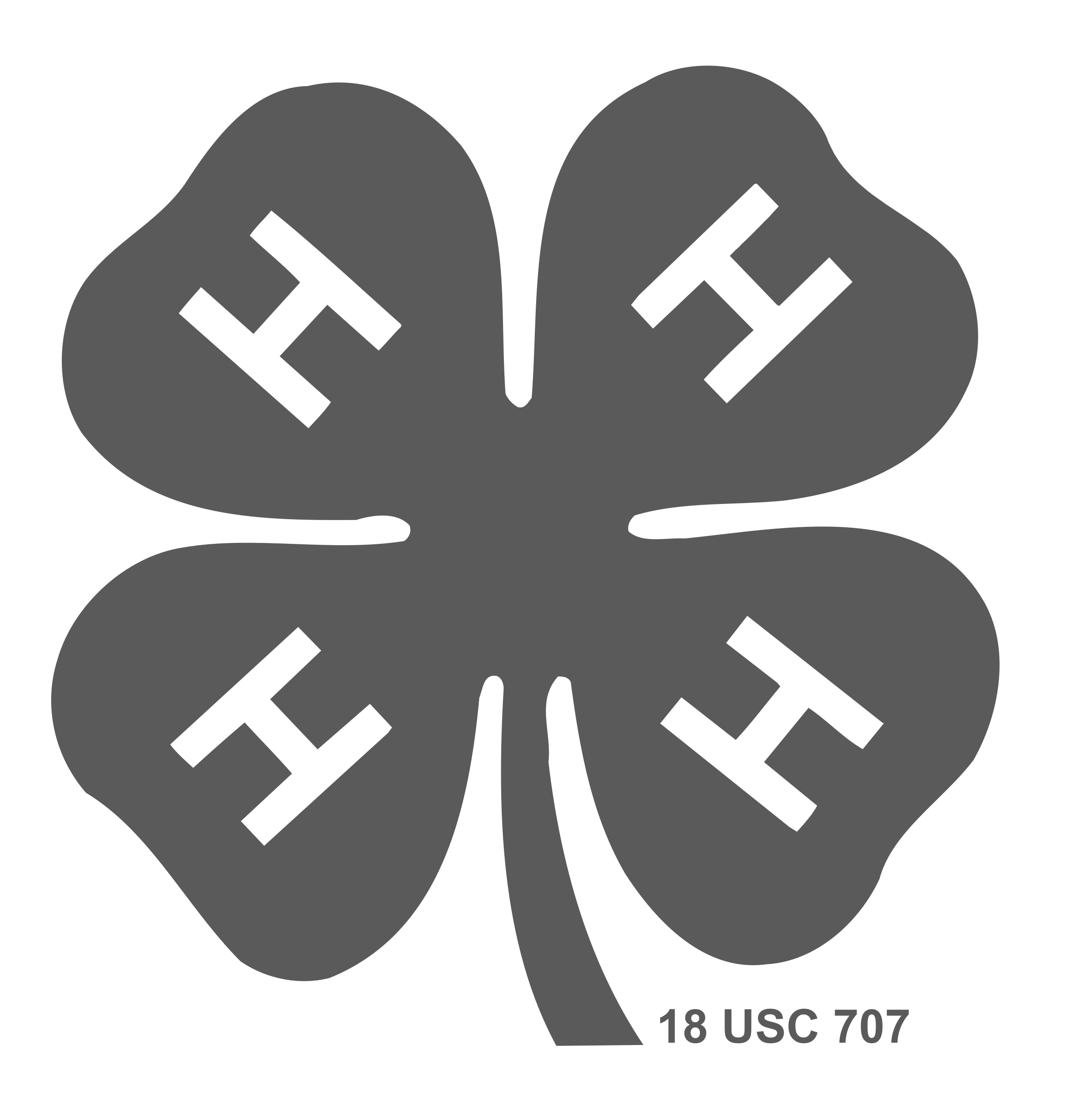 4H logo black and white (With images) Logos