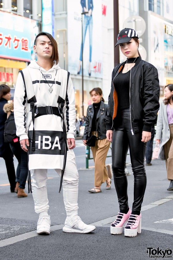 Harajuku Duo in Streetwear by Hood by Air, Y3, Long
