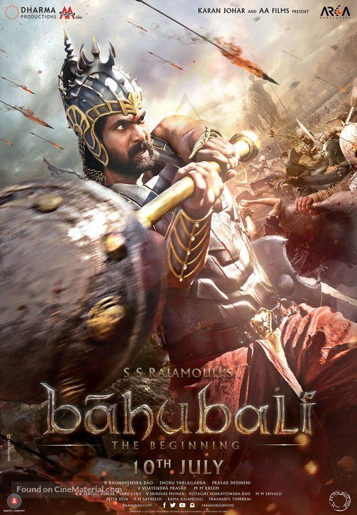 Baahubali The Beginning Indian Movie Poster Full Movies Bollywood Movies Download Movies