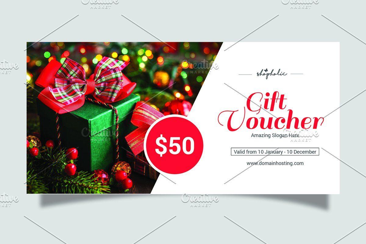 Christmas Gift Voucher Template V06 Christmas Gift Vouchers Gift Vouchers Christmas Gift Voucher Templates