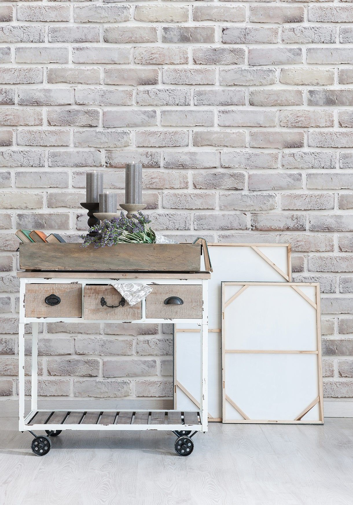 Lime Washed Brick Wallpaper By Milton Amp King Interior