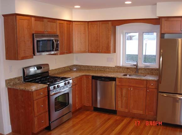 Kitchen design small shaped kitchen layout favorite for Small kitchen designs layouts pictures