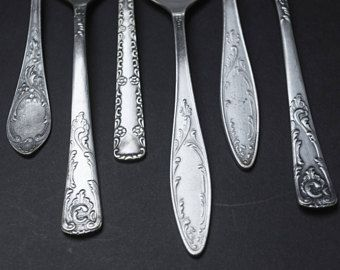 with flatware silverplate crafts vintage Making