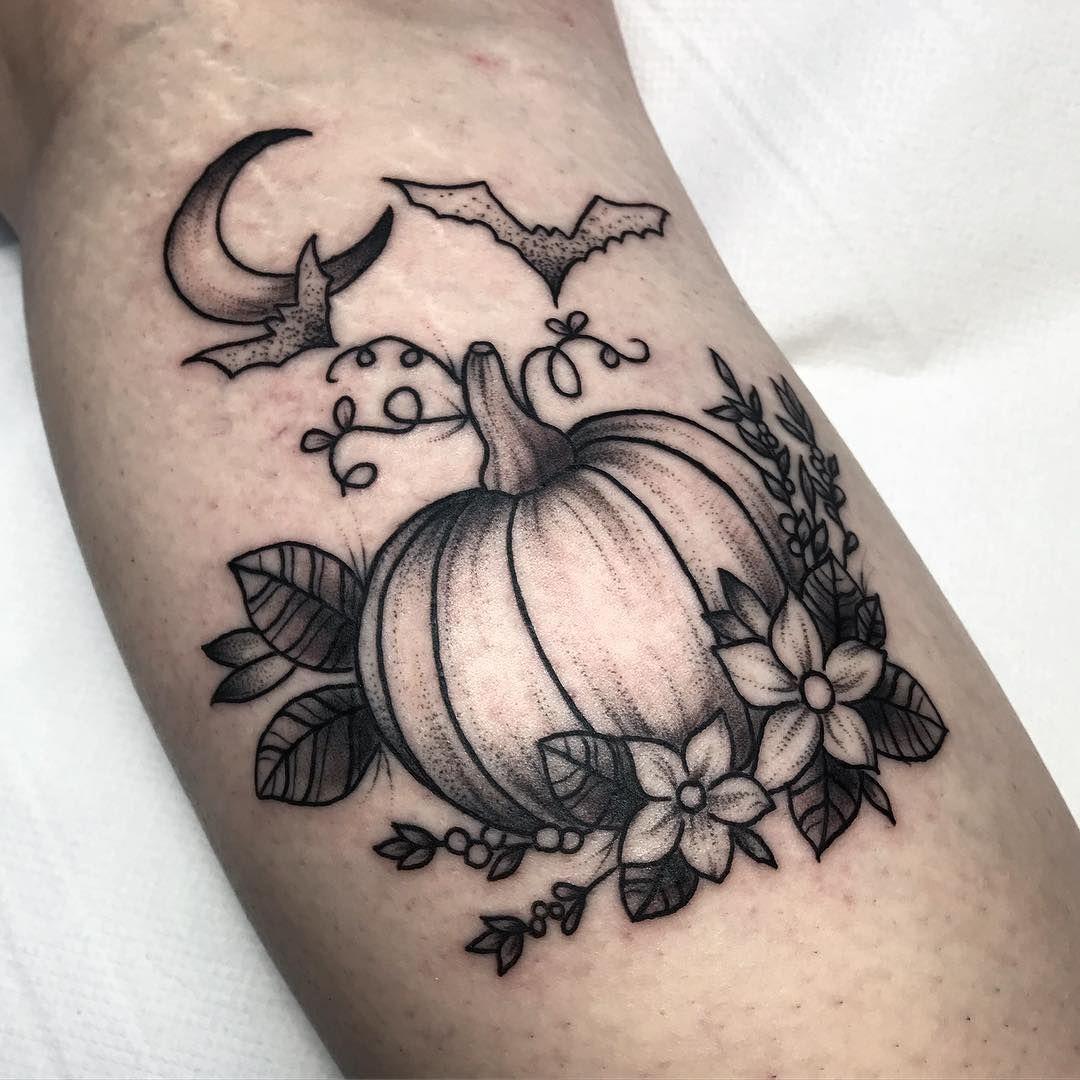"Phill Reed Tattoo on Instagram: ""Finally got to do my pumpkin design! Yasssss!"""