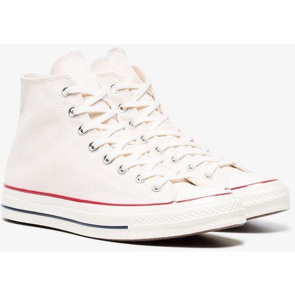 Converse Parchment 70S Chuck Chuck 70S Taylor Hi Sneakers (330 QAR)  liked 9d2500