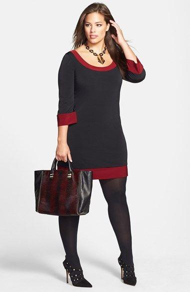 Plus Size Shift Dress Sweater Dress UNIQUE WOMENS FASHION