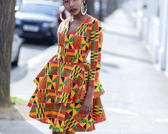 Ankara Dress, african print dress, dress, midi dress,m #africanprintdresses
