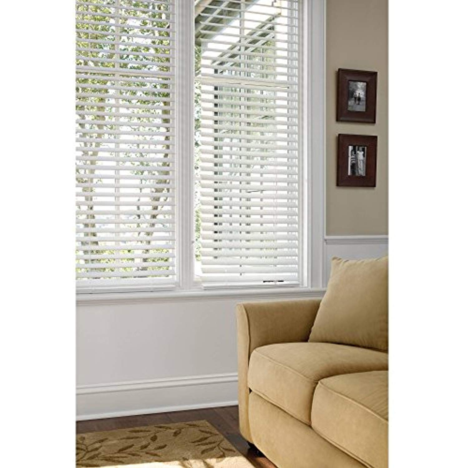 Better Homes And Gardens 2 Faux Wood Blinds, White, (34X48)