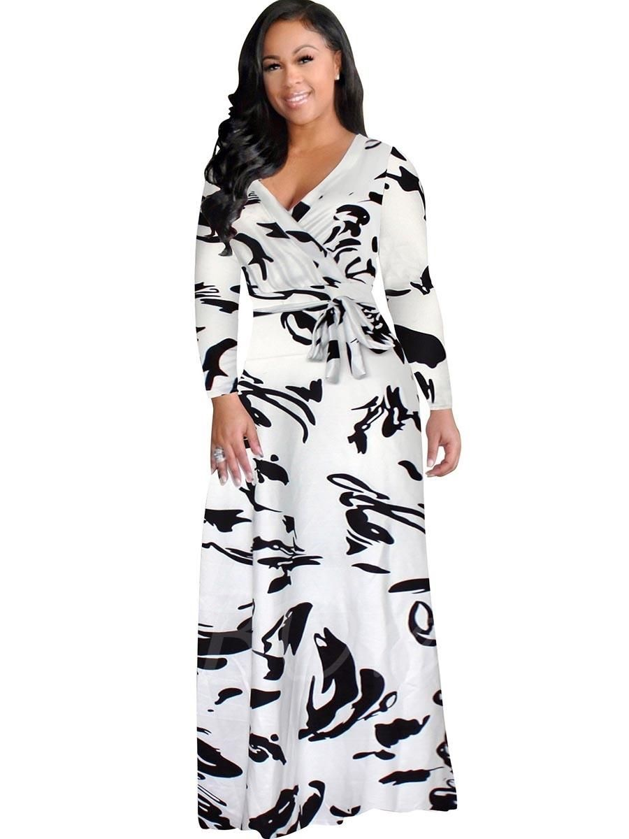 Tbdress tbdress white plus size long sleeve womens maxi dress