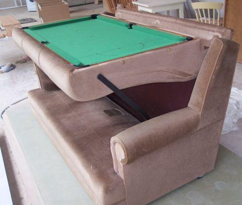 Un canapé convertible… en table de billard ! | Pool table, Canapés ...