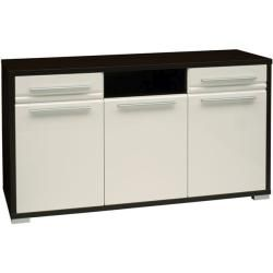 Photo of Chest of drawers Tucuman 12, color: wenge / white high gloss – 81 x 139 x 41 cm (H x W x D) Easy furniture