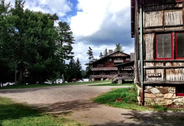 Looking toward the main lodge, Great Camp Sagamore Lodge