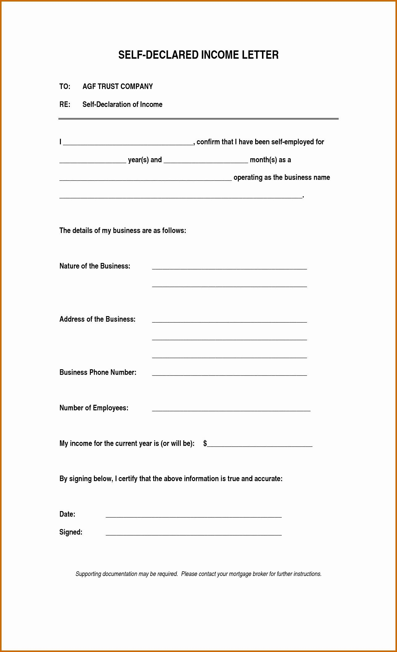 Self Employed Income Verification Letter Beautiful Notarized Letter For Self Employment Flowersheet Lettering Job Letter Professional Cover Letter Template