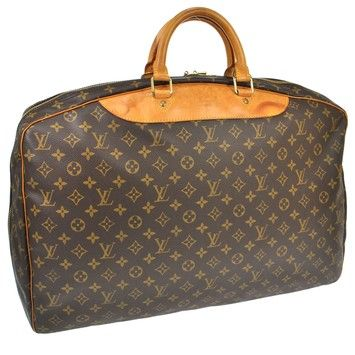 Louis Vuitton Alize 1 Poches Travel Hand Monogram Brown Travel Bag.