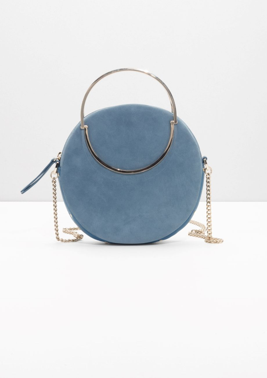 Other Stories Image 1 Of Small Leather Circle Bag In Blue Designerhandbag