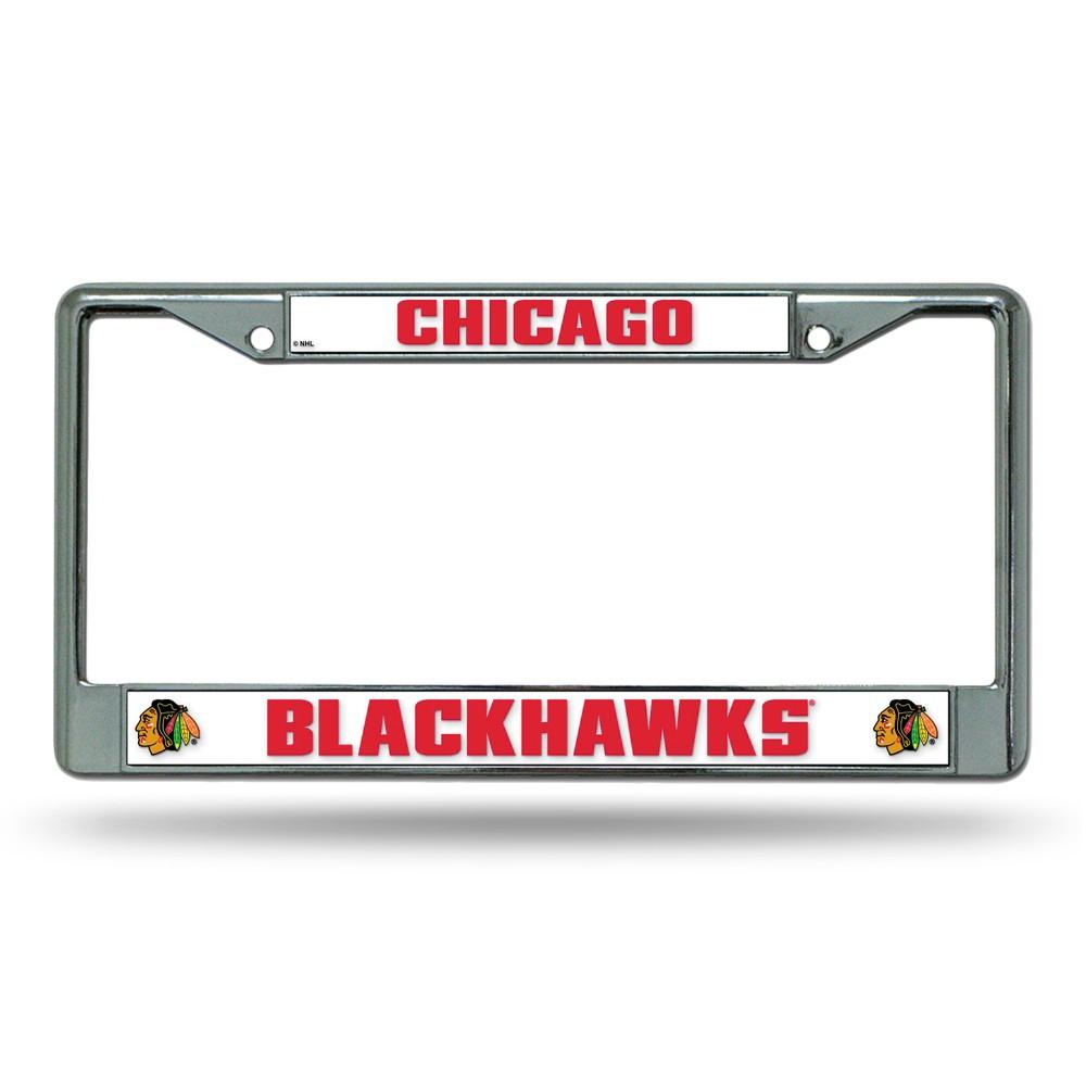 Chicago Blackhawks Rico Industries Chrome License Plate