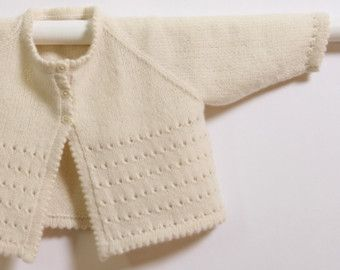 6b91ebbb5 Baby Cardigan   Knitting Pattern Instructions in English   PDF Instant  Download   Sizes 0-3 months   6-9 months   12-18 months
