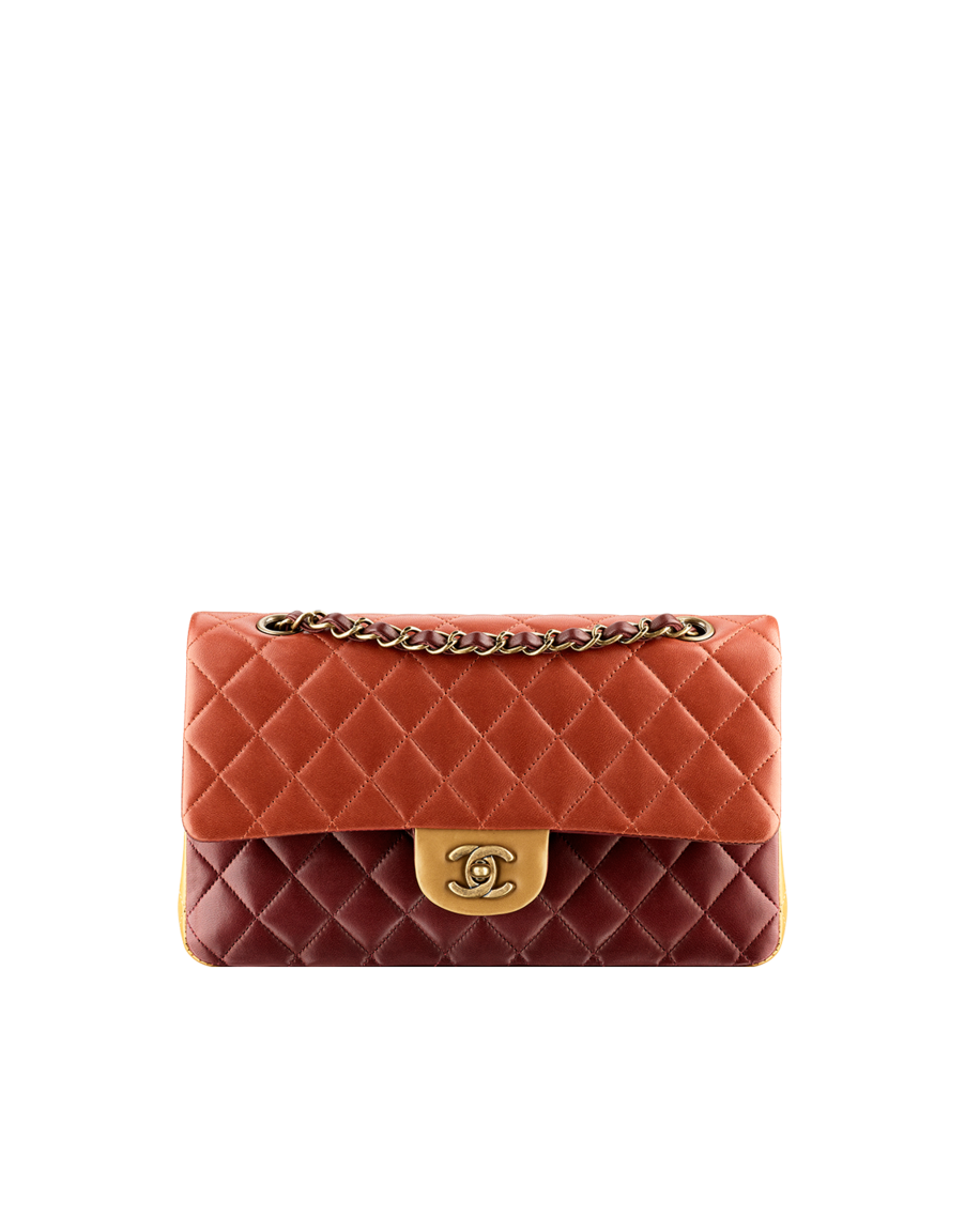 Classic flap bag in quilted lambskin - CHANEL