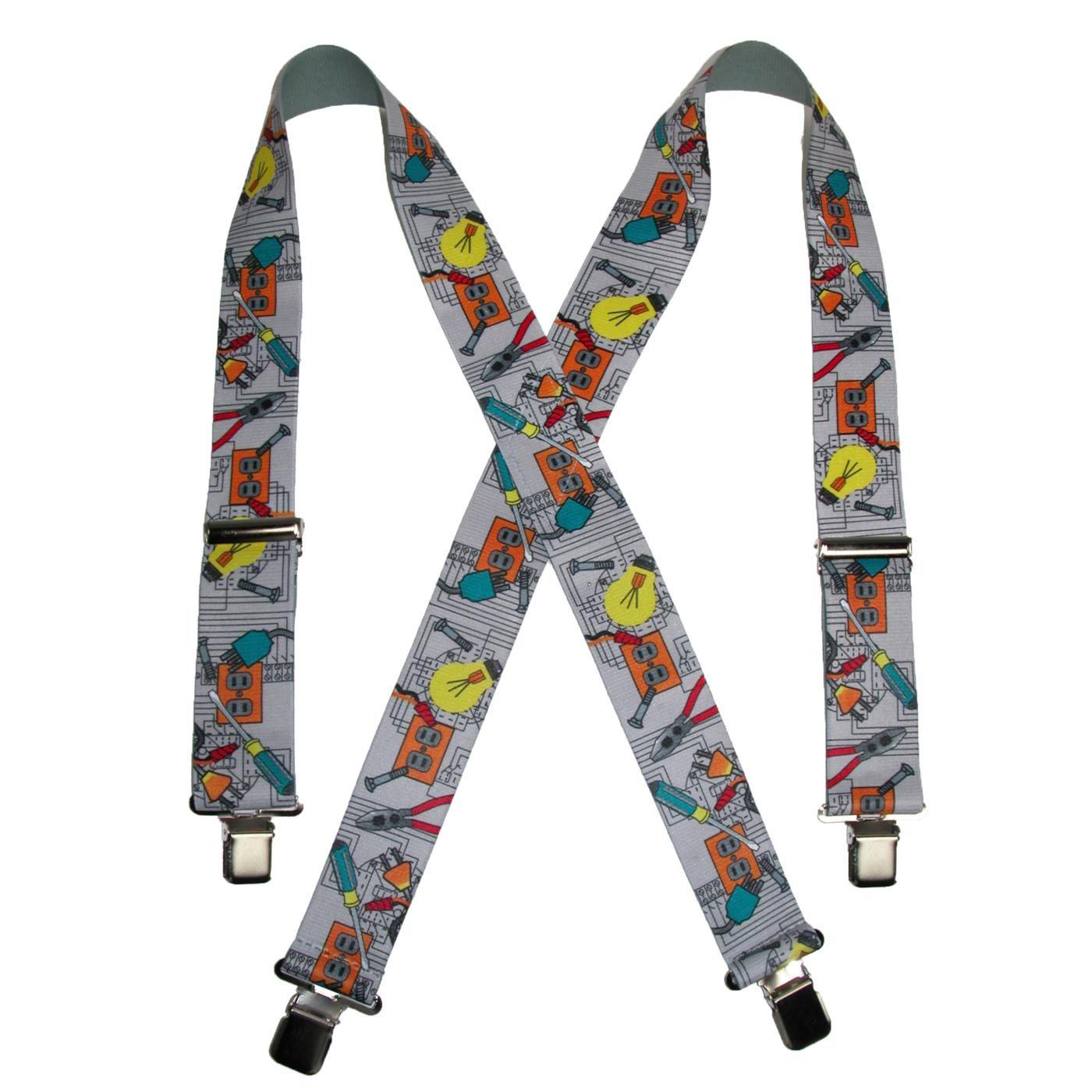 Anniversary Gift Men\u2019s Y-Shaped Suspenders Suit Suspenders Pattern Suspender for Men Elastic Straps 6 Metal Clips Casual Suspenders