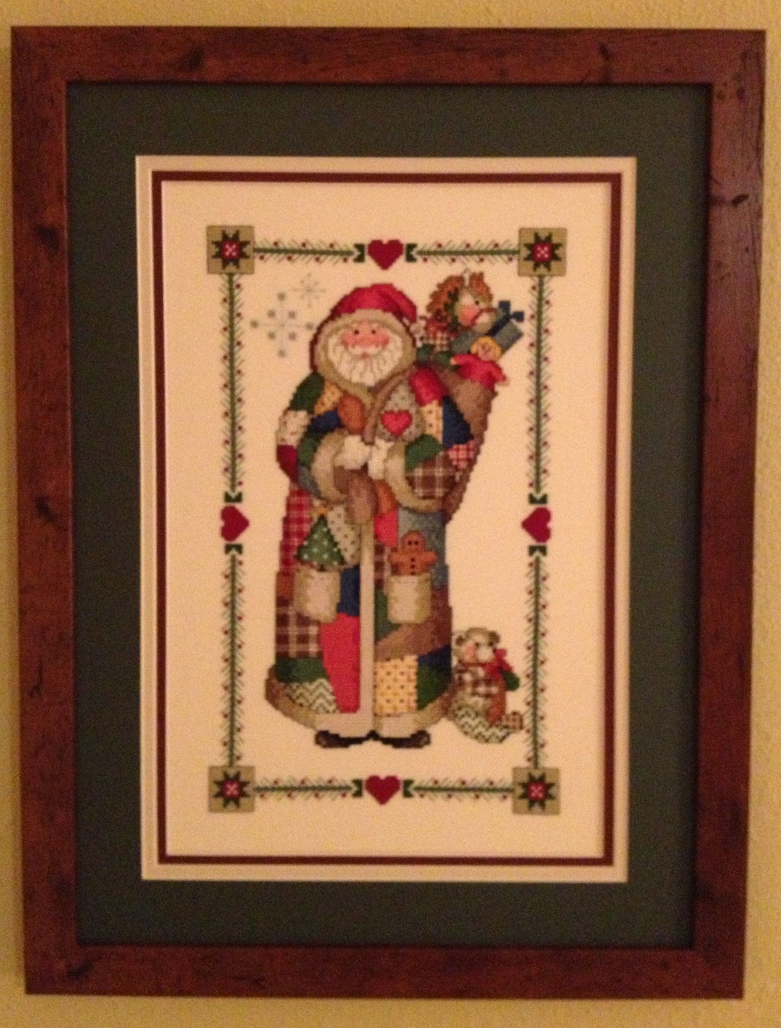 Cross Stitch With Triple Mat And Larson Juhl Frame Beautifully Framed