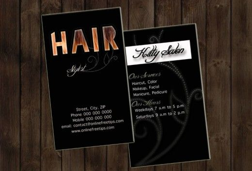 Sample Hair Stylist Business Cards Templates | Business Card ...